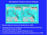 atmospheric pressure and ice changes
