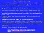 human dimension of change