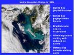 marine ecosystem change in 1990s