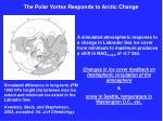 the polar vortex responds to arctic change