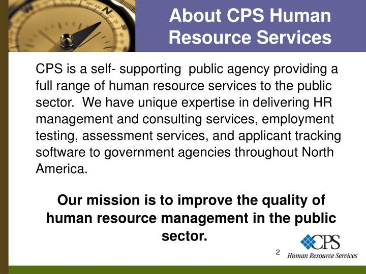About cps human resource services