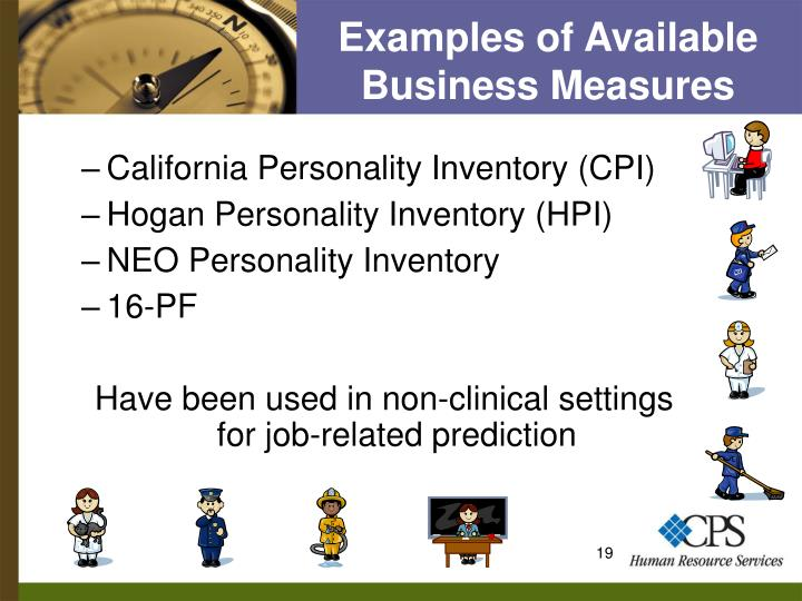 Examples of Available Business Measures