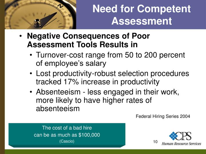 Need for Competent Assessment