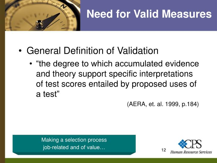Need for Valid Measures