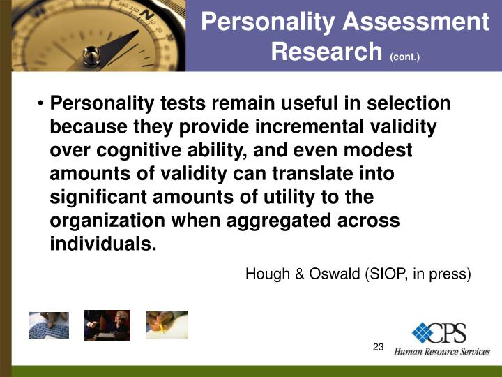 Personality Assessment Research