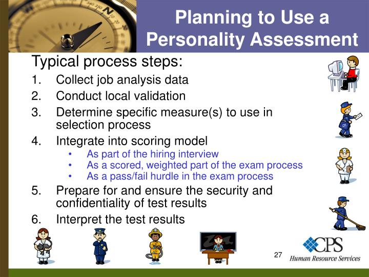 Planning to Use a Personality Assessment
