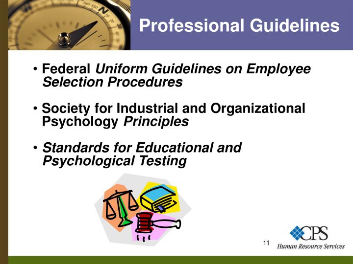 Professional Guidelines