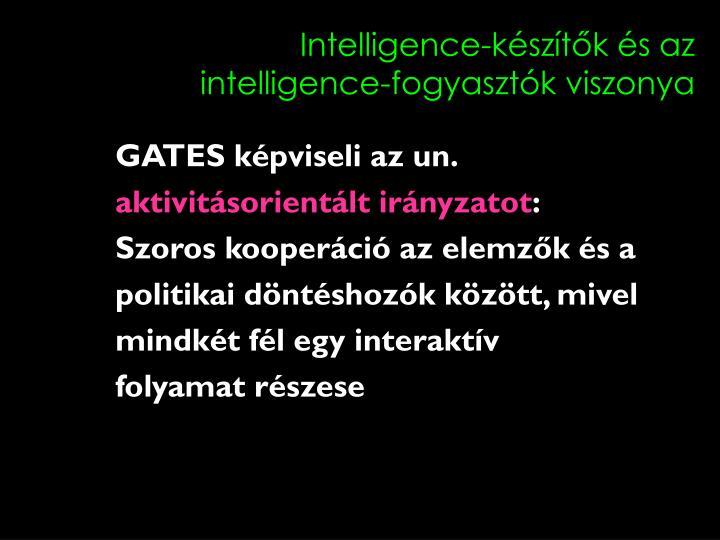 Intelligence-készítők és az intelligence-fogyasztók viszonya