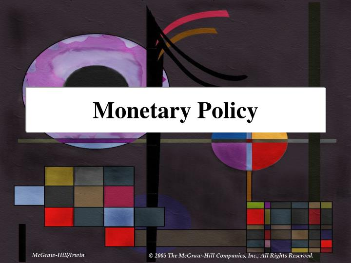 monetary policy n.