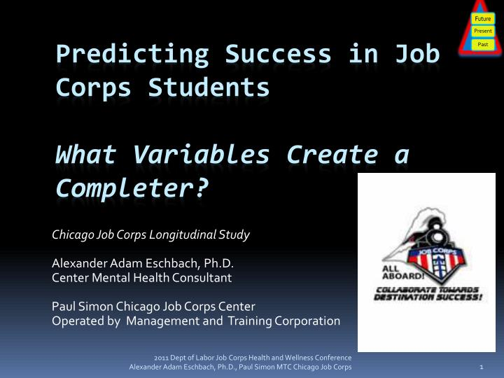 predicting success in job corps students what variables create a completer n.