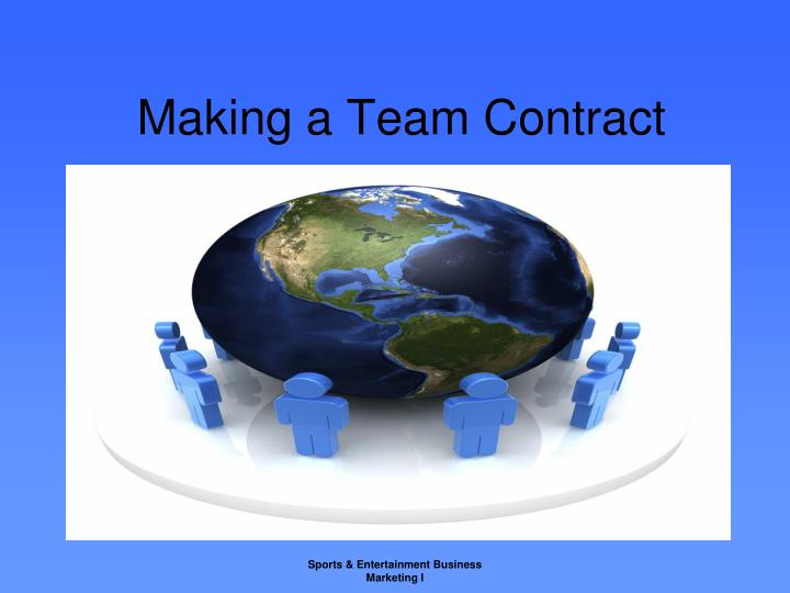 making a team contract n.