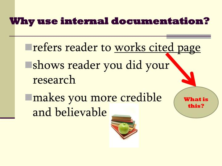 Why use internal documentation