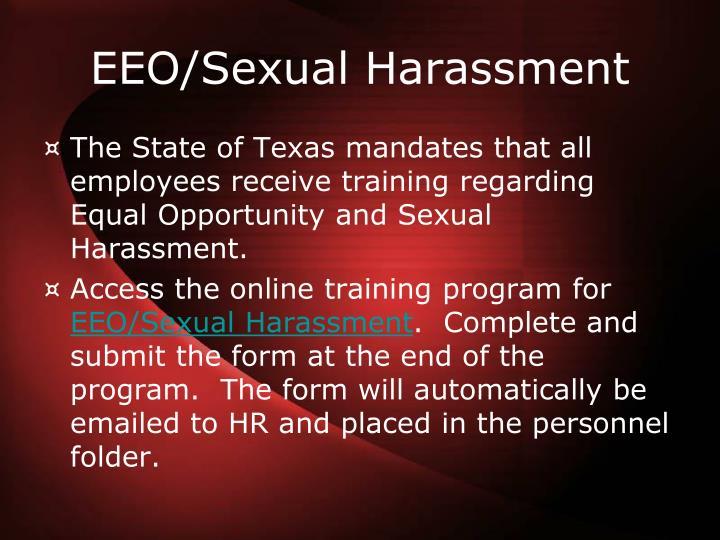 EEO/Sexual Harassment