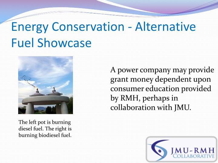Energy Conservation - Alternative Fuel Showcase