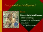 can you define intelligence7