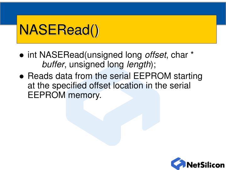NASERead()