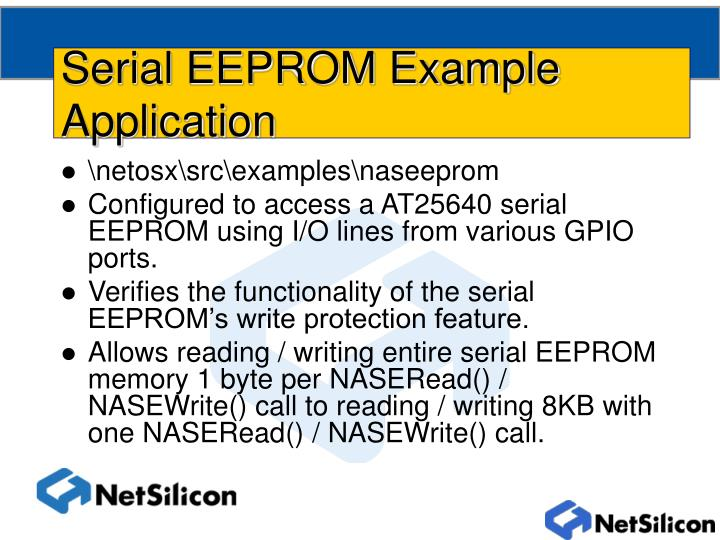Serial EEPROM Example Application