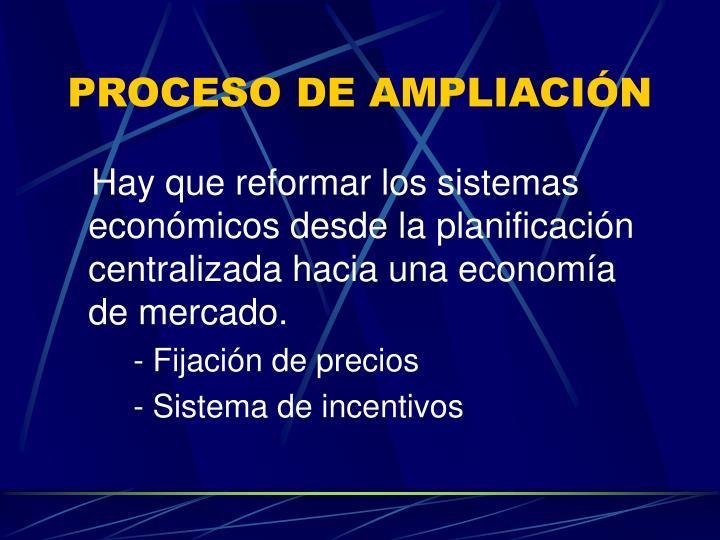 PROCESO DE AMPLIACIÓN