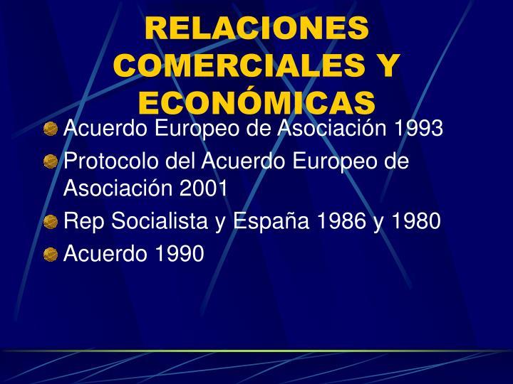 RELACIONES COMERCIALES Y ECONÓMICAS