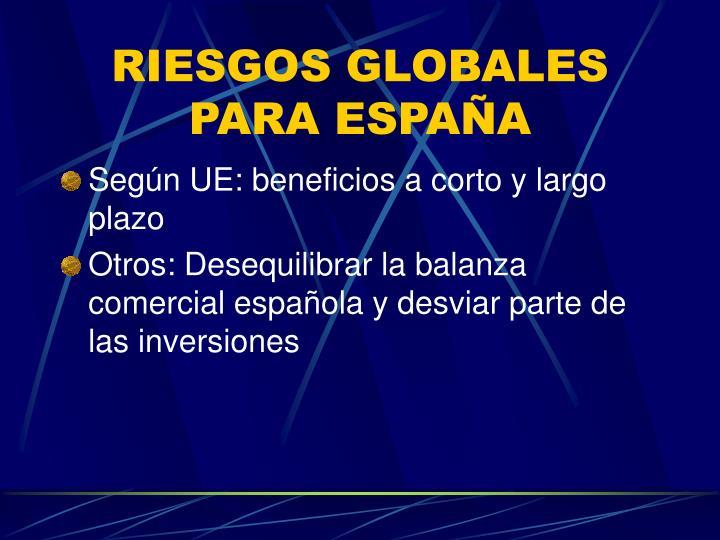 RIESGOS GLOBALES PARA ESPAÑA
