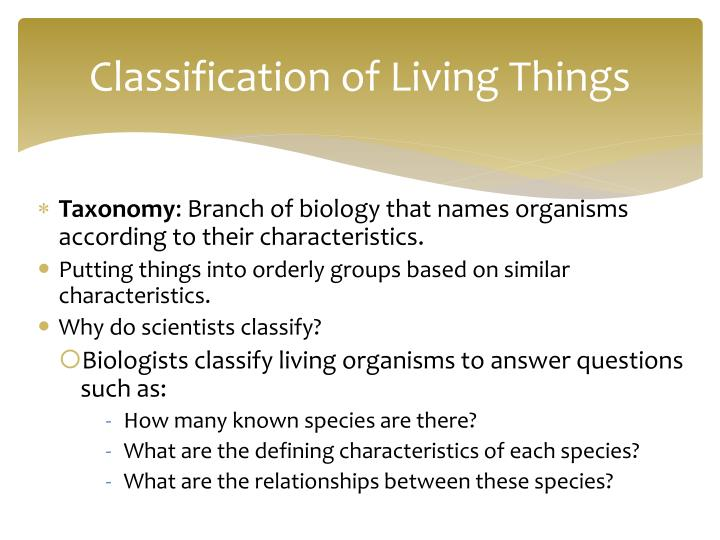 Classification of living things1