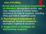 aims of profiling