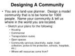 designing a community