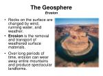 the geosphere erosion