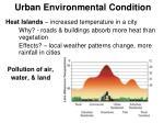 urban environmental condition