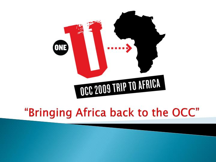 bringing africa back to the occ n.