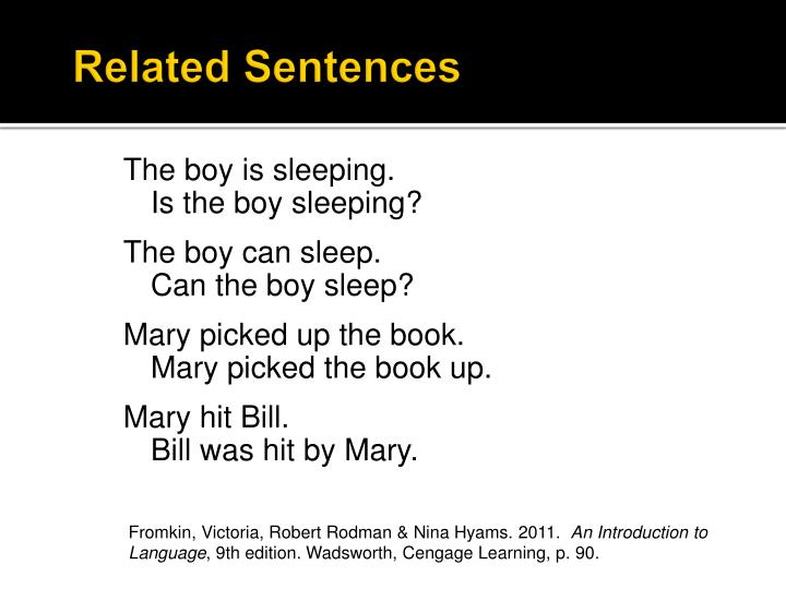 related sentences n.