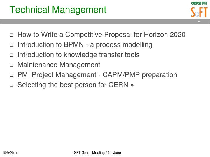 Technical Management