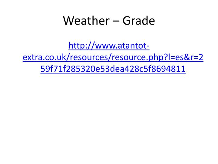 Weather – Grade