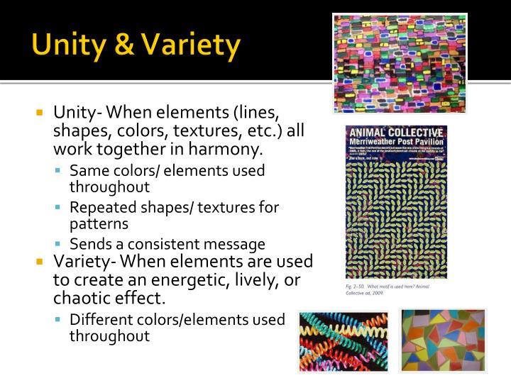 Unity & Variety