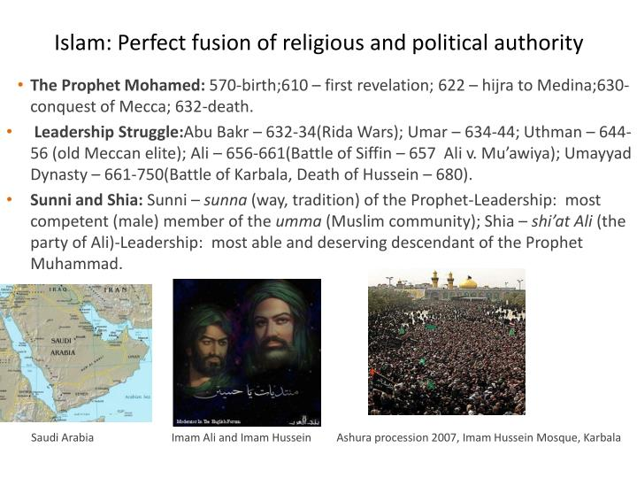 Islam perfect fusion of religious and political authority