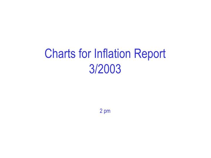 charts for inflation report 3 2003 2 pm n.