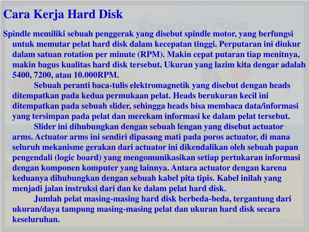 fungsi hard disk powerpoint
