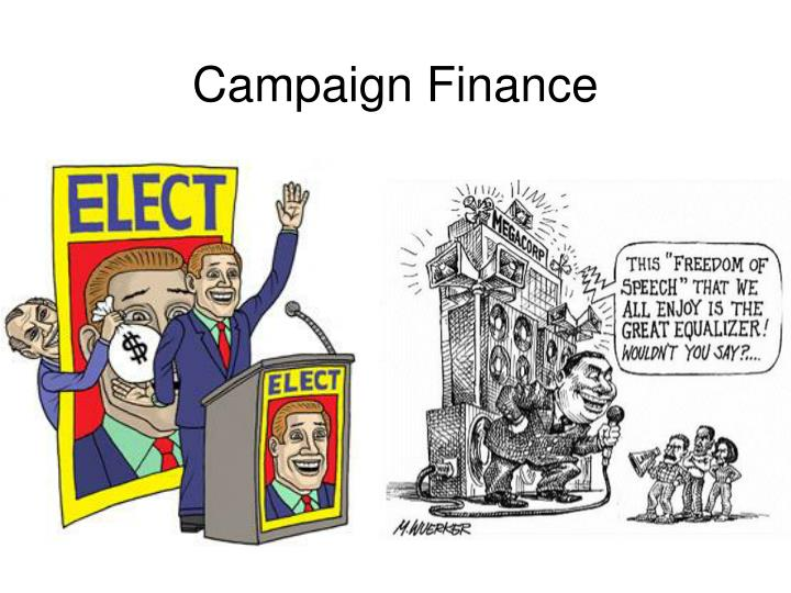 campaign finance n.