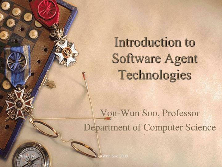 introduction to software agent technologies n.