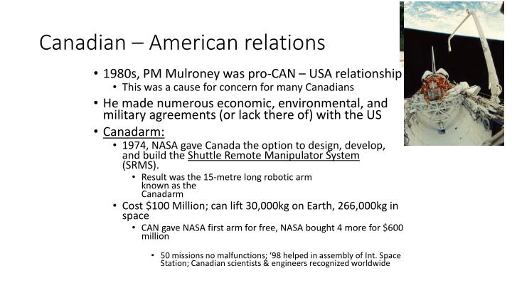 American canadian relations essay