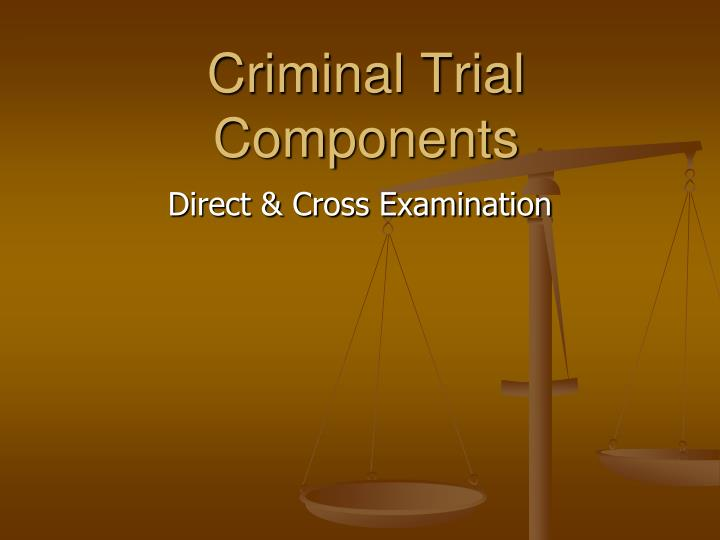 criminal trial components n.