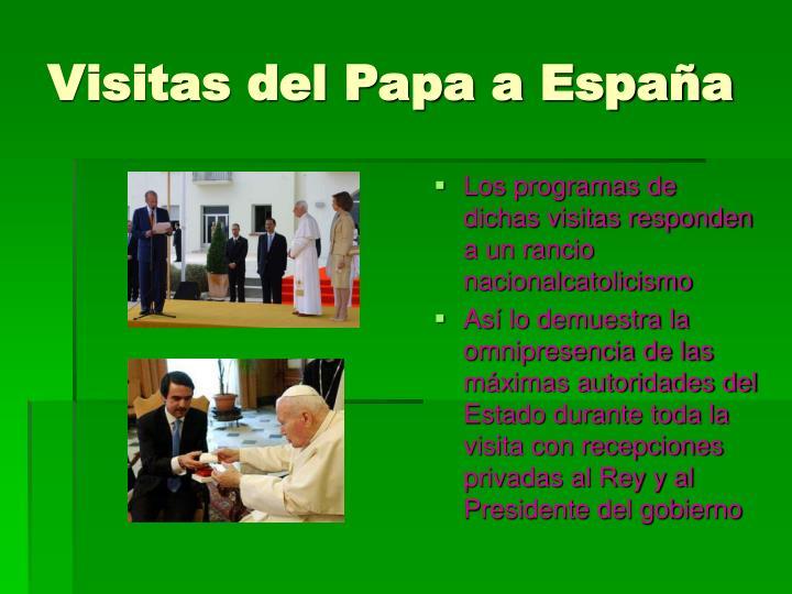 Visitas del Papa a España