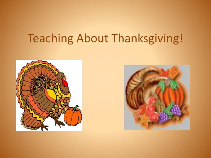 teaching about thanksgiving n.