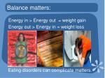 balance matters