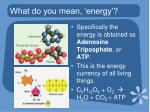what do you mean energy