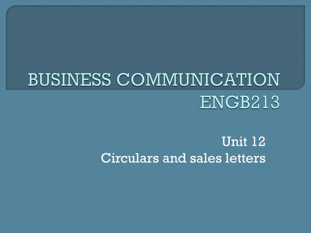 Ppt Business Communication Engb213 Powerpoint Presentation Id