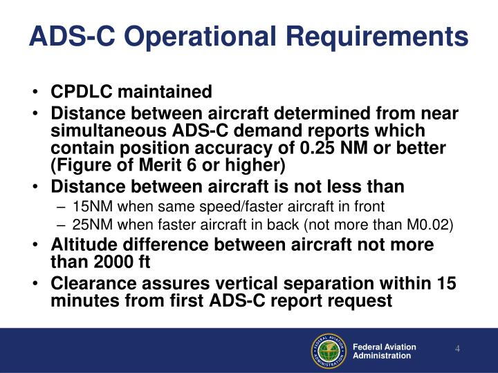 ADS-C Operational Requirements