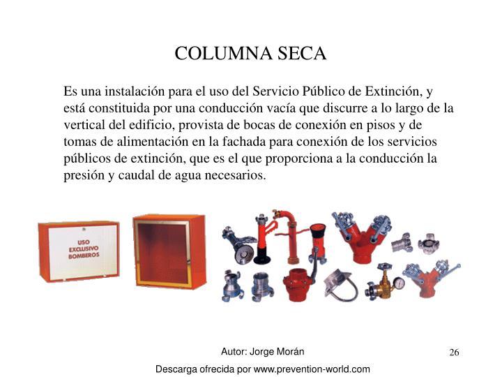 COLUMNA SECA