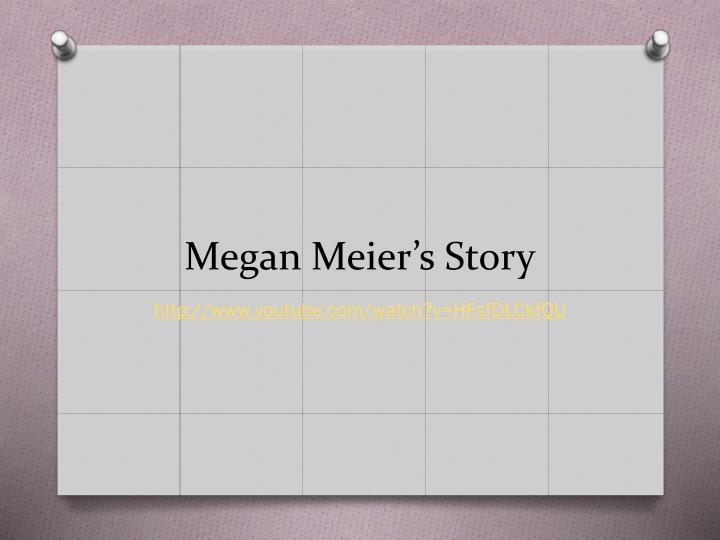 Megan Meier's Story