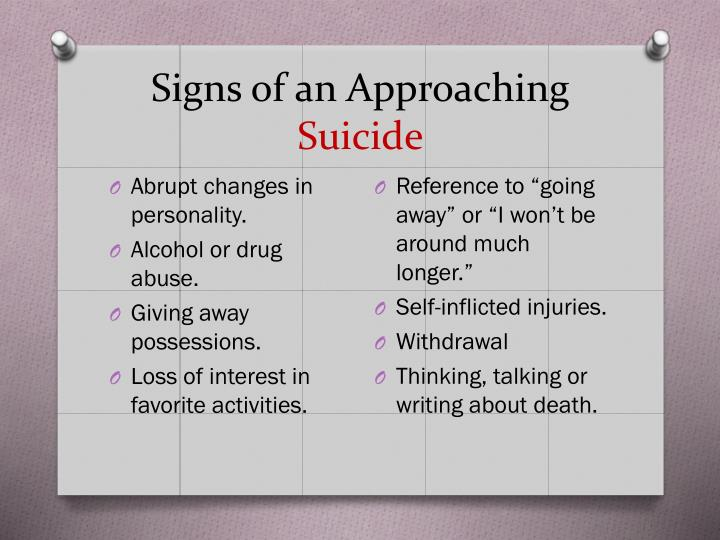 Signs of an Approaching